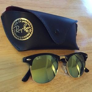 RAY-BAN clubmaster green reflection with case!